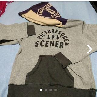 サンカンシオン(3can4on)の✨3can4on、デザインパーカー、美品(Tシャツ/カットソー)