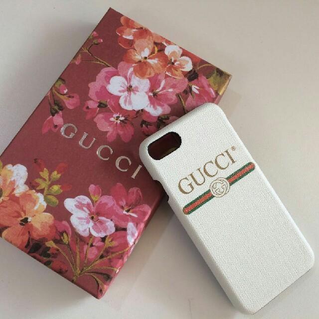 グッチ iphone8plus カバー 本物 | Gucci - Gucci iPhoneケース 7/8 ホワイトの通販 by ニコ's shop|グッチならラクマ