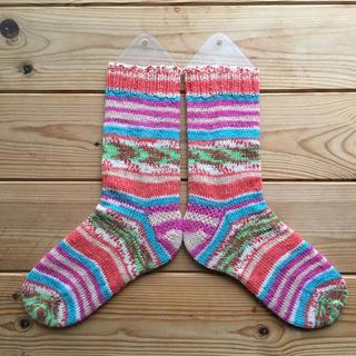 手編みの靴下18(レッグウェア)
