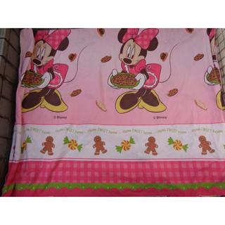 ディズニー(Disney)のUSED ミッキ&ミニー ディズニー 布団カバー ファブリック  リメイク素材(シーツ/カバー)