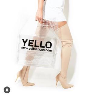 イエローブーツ(Yellow boots)の非売品 yello boots クリアバッグ(ショップ袋)