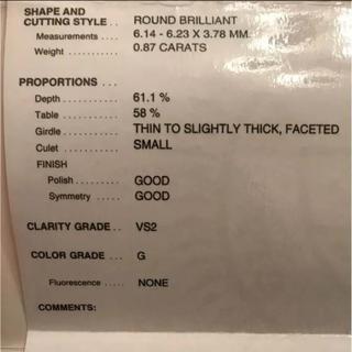 ヴァンクリーフアンドアーペル(Van Cleef & Arpels)のヴァンクリーフ&アーペル  ダイヤリング 0.87カラット(リング(指輪))