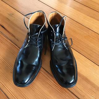 ジュンヤワタナベ(JUNYA WATANABE)の【JUNYA WATANABE】レザーシューズ/ブラック/size:M(ローファー/革靴)