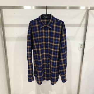 バレンシアガ(Balenciaga)のbalenciaga チェックシャツ バックロゴ 40(シャツ)