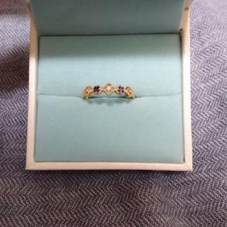 ジュエリーツツミ(JEWELRY TSUTSUMI)のK10サファイア、ダイヤモンドリング(リング(指輪))