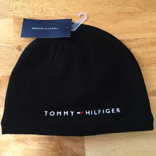トミーヒルフィガー(TOMMY HILFIGER)のラスト1 大人気 トミーヒルフィガー 黒 ブラックニット帽(ニット帽/ビーニー)
