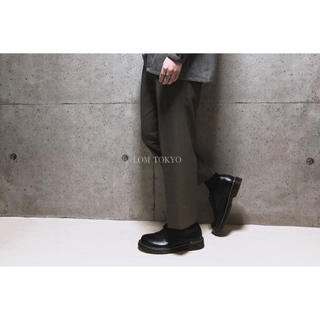 [used]dark brown wool blend slacks.(スラックス)