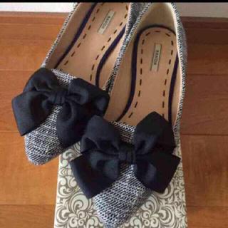 ランダ(RANDA)のRANDA リボンフラットシューズ♡(ローファー/革靴)