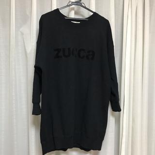 ズッカ(ZUCCa)の明日処分予定につき緊急値下げ!ZUCCA☆スウェット ロング丈(トレーナー/スウェット)