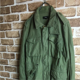 グリーン(green)のスタイリッシュ! green ミリタリージャケット M-65 カーキ 緑(ミリタリージャケット)