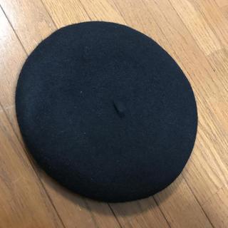 アースミュージックアンドエコロジー(earth music & ecology)のblackのベレー帽(ハンチング/ベレー帽)