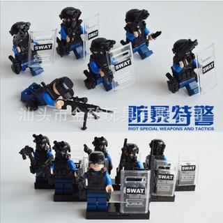【送料無料】レゴ互換 特殊部隊 警察 ポリス 6体セット 00057(ミリタリー)