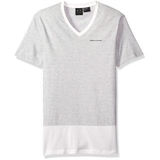アルマーニエクスチェンジ(ARMANI EXCHANGE)のARMANI アルマーニ エクスチェンジ ボーダーVネック ストライプTシャツ(Tシャツ/カットソー(半袖/袖なし))