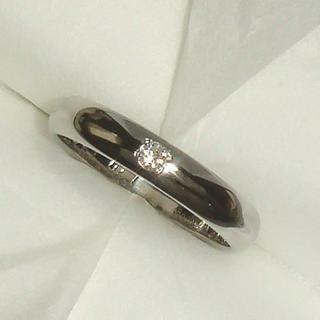 ★ダイヤモンドPt900甲丸リング(約3.3mm幅)(リング(指輪))