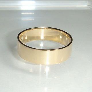★K18平打リング(6号~22号・幅約5.0㎜)(リング(指輪))