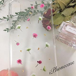 #101 iPhonecase ウキウキかすみ草(スマホケース)