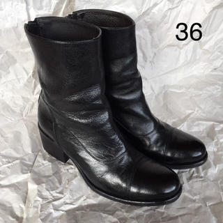 ムジルシリョウヒン(MUJI (無印良品))のBoemos ボエモス・バックジップショートブーツ36(ブーツ)