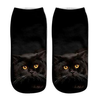 猫くつした 黒猫ちゃんくつ下♪ 新品未使用品 送料無料♪(001)(猫)