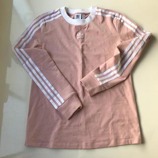 アディダス(adidas)の値下げ!試着のみ アディダス 長袖 Tシャツ 3ライン M ピンク(Tシャツ(長袖/七分))