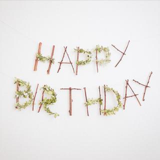 HAPPY BIRTHDAY ナンバー①(ガーランド)