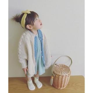 ムジルシリョウヒン(MUJI (無印良品))の無印♡90サイズ♡ニットポンチョ♡ベビー♡キッズ(ジャケット/上着)