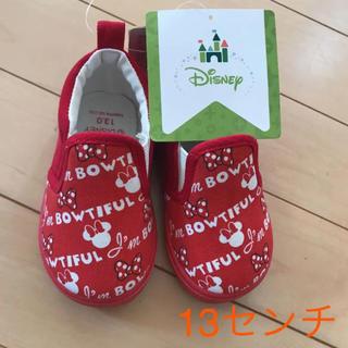 ディズニー(Disney)の新品◎ミニーちゃん スリッポン 13センチ(スニーカー)