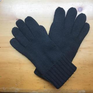 ムジルシリョウヒン(MUJI (無印良品))の無印良品 手袋 メンズ 黒(手袋)