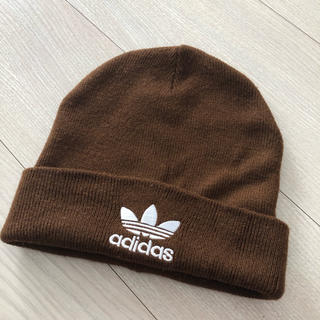 アディダスオリジナル ブラウン ニット帽