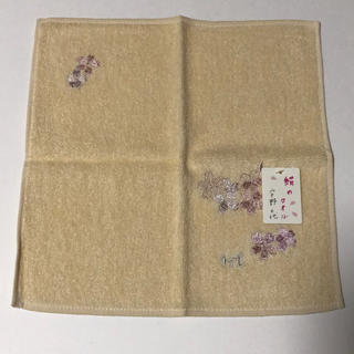 ウノチヨ(宇野千代)の宇野千代さん 絹100% タオルハンカチ 新品(和装小物)