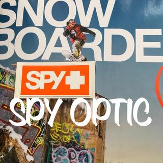 スパイ(SPY)のSPYスパイ オプティカルUS限定Orangeミニボックスロゴステッカー(その他)