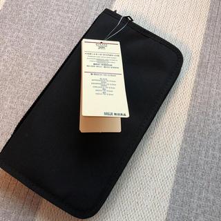 ムジルシリョウヒン(MUJI (無印良品))の新品タグ付き 無印良品 パスポートケース ブラック(日用品/生活雑貨)