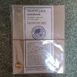 TRAVELER'S note book PASSPORT SIZE CAMEL(ノート/メモ帳/ふせん)