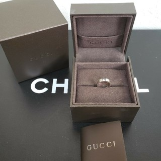 グッチ(Gucci)のGUCCI ホワイトゴールド リング(リング(指輪))
