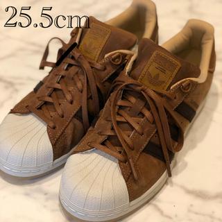 アディダス(adidas)の25.5cm アディダス スーパースター ブラウン(スニーカー)