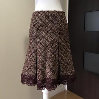 クレデヴェール(cledevers)のクレデヴェール 秋冬ツィードスカート(ひざ丈スカート)