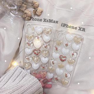 〈ハンドメイド〉 ハートiPhoneケース XR/XsMax(スマホケース)
