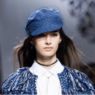 クリスチャンディオール(Christian Dior)の希少☆本物 Dior チュール キャスケット 帽子 ハンチング(キャスケット)