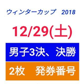 ウインターカップ12/29【スタンド2枚】(バスケットボール)