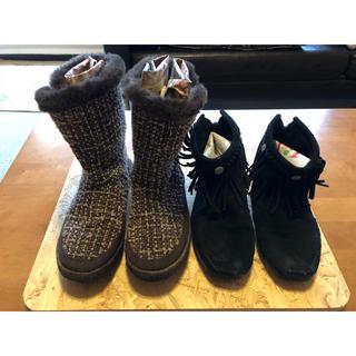 コロンビア(Columbia)の【タイムセール】Columbiaとミネトンカのブーツ2足セット(ブーツ)