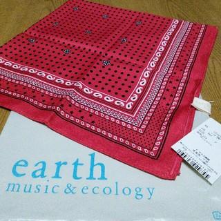 アースミュージックアンドエコロジー(earth music & ecology)のearth❈バンダナ柄プチスカーフ新品未使用(バンダナ/スカーフ)
