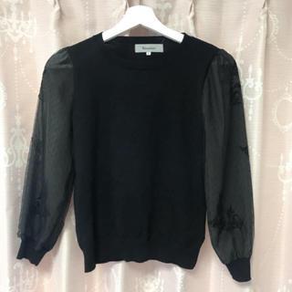 リランドチュール(Rirandture)の袖ドットチュール刺繍ニット(ニット/セーター)
