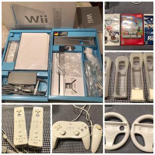 ウィー(Wii)のWii 本体 ハンドル マリオ セット(家庭用ゲーム本体)