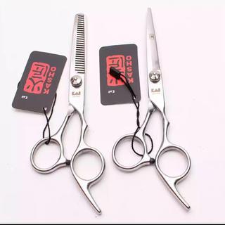 【新品未使用・送料込】ヘアカット トリミング理美容師シザー 6インチセット(散髪バサミ)