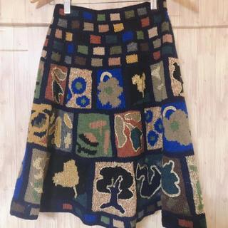 ツモリチサト(TSUMORI CHISATO)のツモリチサト ニットスカート ひざ丈(ひざ丈スカート)