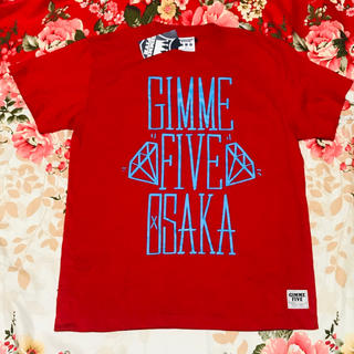 ギミファイブ(GIMME5)の★Gimme Five★ギミーファイブ★赤S★Tシャツ★レゲエ★REGGAE(Tシャツ(半袖/袖なし))