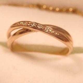 アガット(agete)のスカラベ 指輪 ピンクゴールド ダイヤモンド k10 sowi アガット ete(リング(指輪))