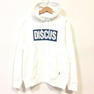 DISCUS - SALE  送料無料 Lサイズ DISCUS ディスカス ロゴ パーカー 白