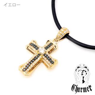 クロムハーツ(Chrome Hearts)の〔888様 専用〕Charmer(チャーマー)K18センターダイヤクロスMセット(ネックレス)