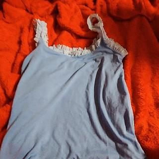 リズリサドール(LIZ LISA doll)の美品!リズリサドールLIZ LISAdollの水色キャミソール♪(キャミソール)