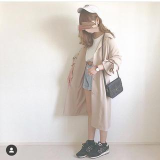 ジーユー(GU)のGU キャンディスリーブステンカラー コート ベージュ(スプリングコート)